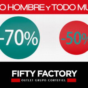 Próxima apertura de Fifty Factory, outlet del Grupo Cortefiel