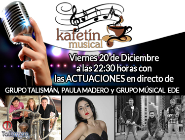 Promoción grabación del tercer programa del Kafetin Musical en Plaza Elíptica Centro Comercial de Vigo