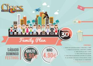 Promo Family Plan, la mejor opción para ir al cine en familia. Ahorra en tus entradas.