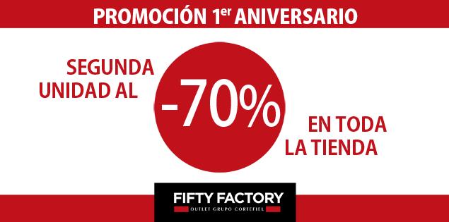El primer aniversario de Fifty Factory viene cargado de descuentos