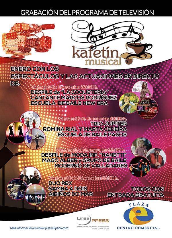 Kafetín Musical Enero en Plaza Elíptica Centro Comercial de Vigo