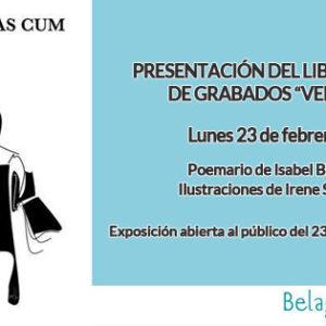 """Inauguración de exposición de grabados y presentación del poemario """"Verbas Cum"""" en Apo'strophe Sala de Arte"""