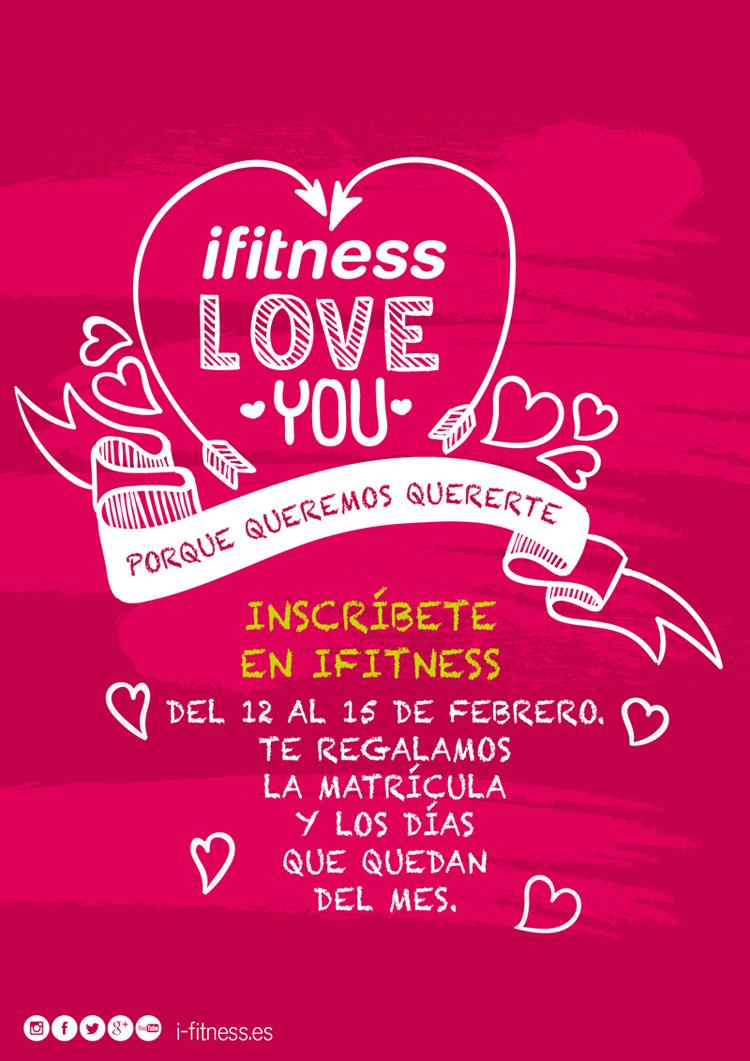 Promoción San Valentín 2015 en ifitness Plaza Elíptica Centro Comercial