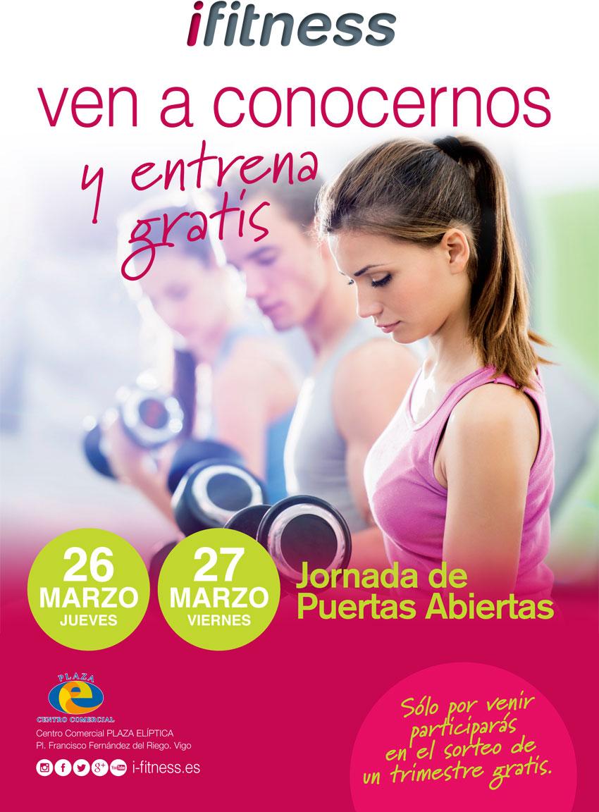 Jornada de puertas abiertas en ifitness Plaza Elíptica Centro Comercial de Vigo, 26 y 27 de marzo de 2015