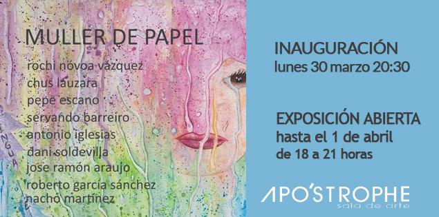 """""""Muller de papel"""" en Apo'strophe Sala de Arte"""