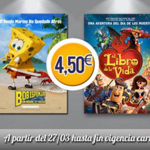 ¡En Cines Plaza Elíptica, tu cine infantil de estreno al mejor precio!