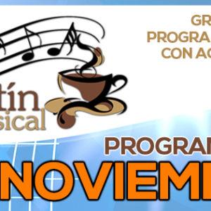 Noviembre de canciones, música y moda en Kafetín Musical