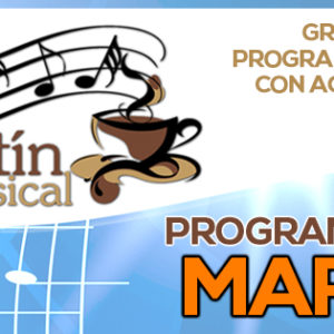 Programación Kafetín Musical Marzo 2016