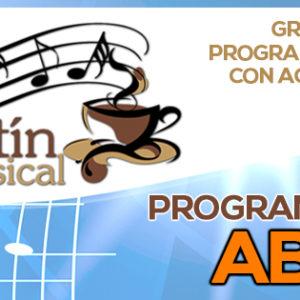 Programación Kafetín Musical Abril 2016