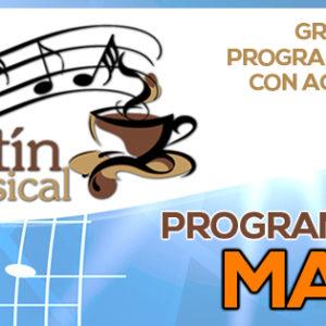 Programación Kafetín Musical Mayo 2016