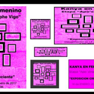 """APO'STROPHE SALA DE ARTE presenta """"Kanya en FEMENINO"""" ."""