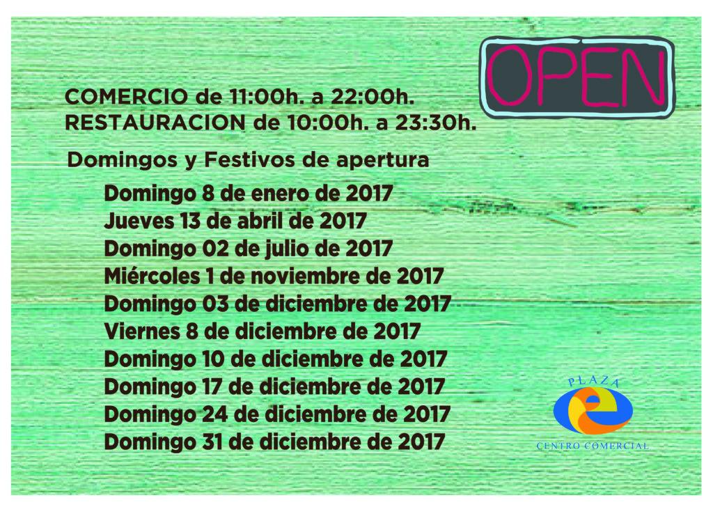 dias de apertura especial