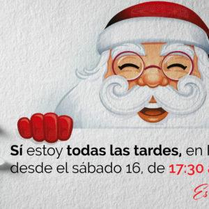 """Papa Noel """"- Me quedo en Centro Comercial Plaza Elíptica"""" hasta Nochebuena."""