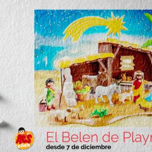 Hemos montado El Belen de Playmobil, con Aesclick.