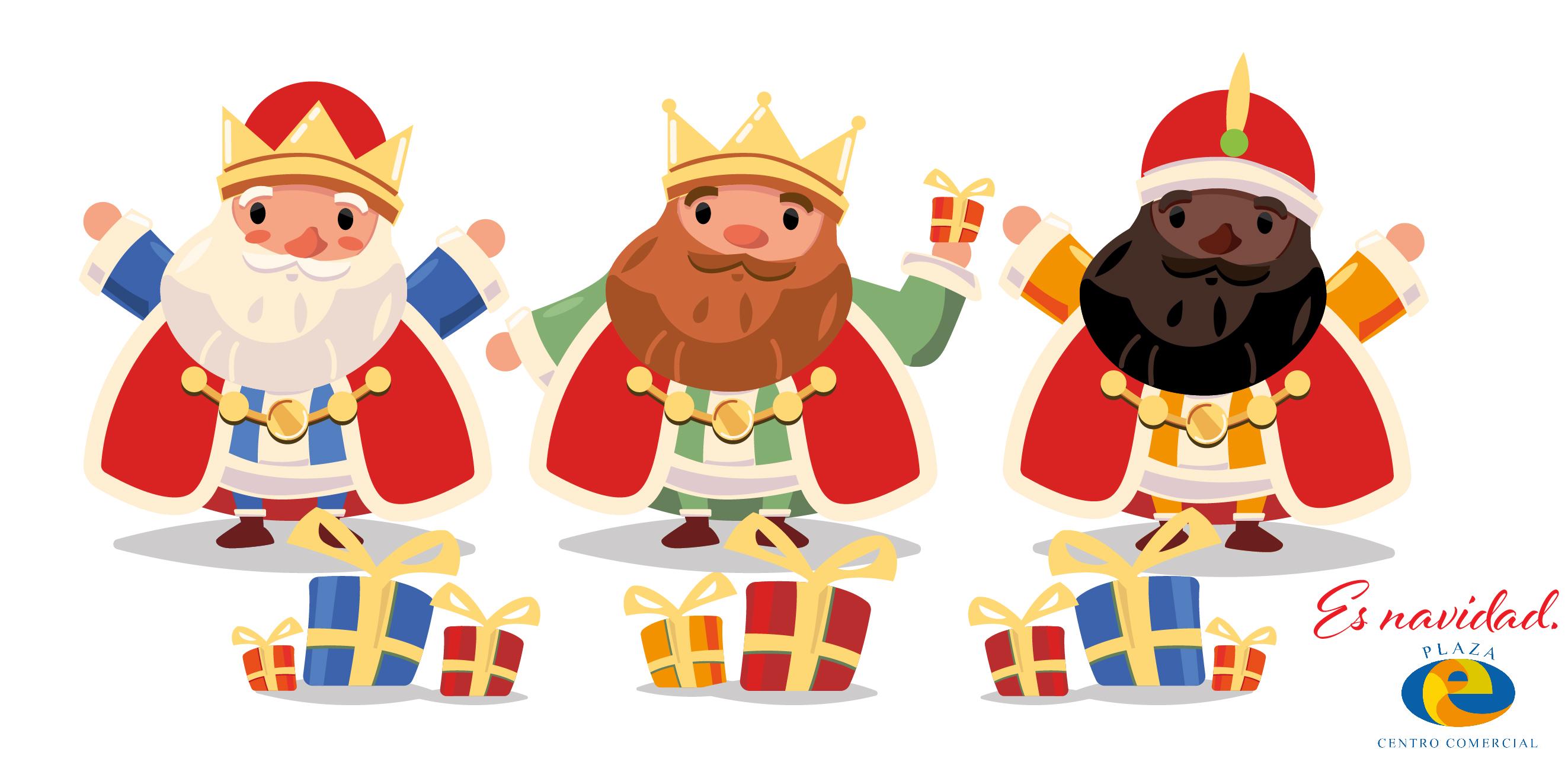 Los Reyes Magos, envían a su paje real a Plaza Elíptica.