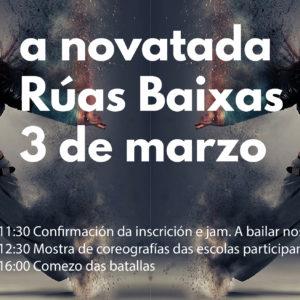 A novatada Rúas Baixas Plaza Elíptica. Concurso novel hip hop.