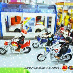 PAPANOELADA motera en Cabalgata de Reyes de Playmobil