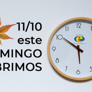 Domingo 11 de OCTUBRE ABRIMOS, VISITANOS!